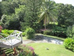 Tropical garden at front of the house