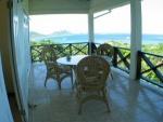 Dining area on covered veranda