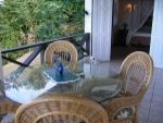Dining area on veranda